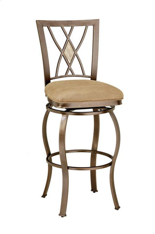 "Hillsdale Brookside Diamond Fossil Back Swivel 30"" Bar Stool 4815-831 - HillsdaleSuperStore"