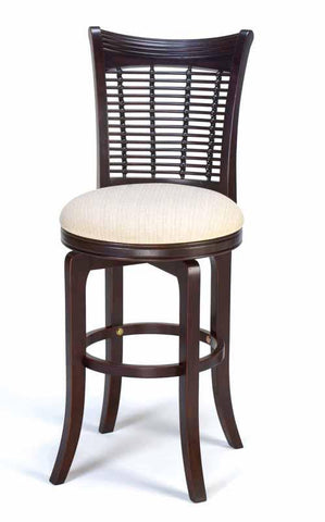 Hillsdale Bayberry Dark Cherry Wicker Swivel Counter Stool 4783-826 - HillsdaleSuperStore