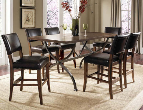 Hillsdale 4671CTBRS47 Cameron 7-Piece Counter Height Rectangle Wood Dining Set w/Parson Stool - HillsdaleSuperStore