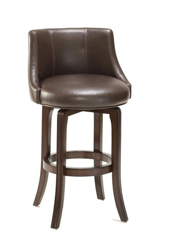 Hillsdale 4294-827I Napa Valley Swivel Counter Stool - Brown Leather - HillsdaleSuperStore