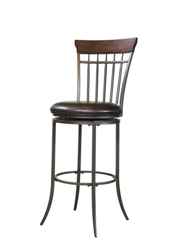 Hillsdale 4671-827 Cameron Swivel Vertical Spindle Counter Stool - HillsdaleSuperStore