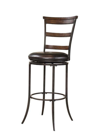 Hillsdale 4671-828 Cameron Swivel Ladder Back Counter Stool - HillsdaleSuperStore