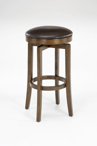 "Hillsdale Brendan Wood Backless 26"" Swivel Counter Stool 63452-826 - HillsdaleSuperStore"