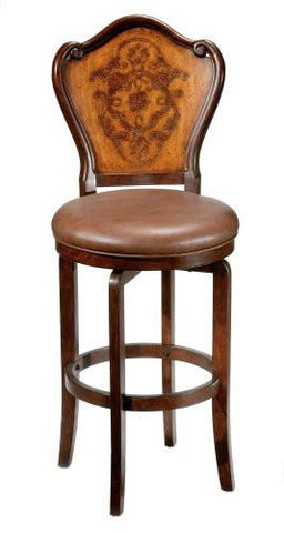 Hillsdale 4870-830 Lyon (Etched) KD Swivel Bar Stool - Completely KD Version - HillsdaleSuperStore