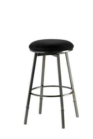 Hillsdale Sanders Adjustable Swivel Backless Barstool in Pewter 4150-831 - HillsdaleSuperStore
