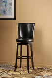 Hillsdale 4951-826 Copenhagen Swivel Counter Stool - Black Vinyl - HillsdaleSuperStore - 1