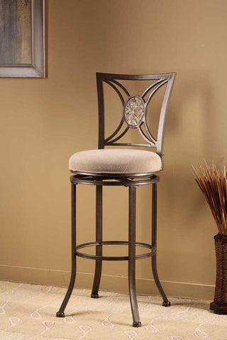 "Hillsdale Furniture 26"" 4897-826 Rowan Swivel Counter Stool - HillsdaleSuperStore"