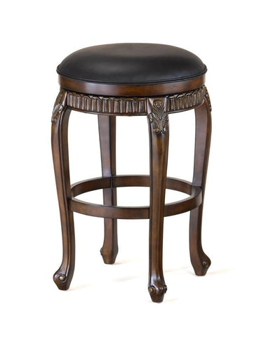 "Hillsdale Backless Fleur De Lis 24"" Swivel Counter Stool 62993 - HillsdaleSuperStore"