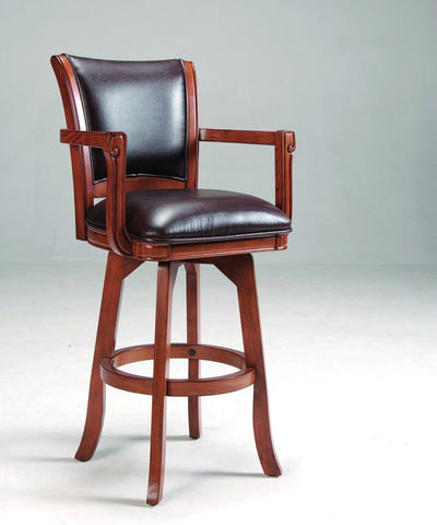 Hillsdale Park View 30 Inch Swivel Barstool in Medium Brown Oak 4186-830 - HillsdaleSuperStore