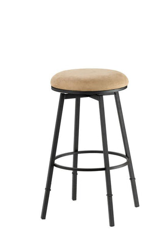 Hillsdale Sanders Adjustable Swivel Backless Barstool in Black 4149-831 - HillsdaleSuperStore