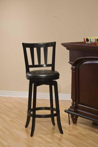 Hillsdale Furniture 4478-826 Presque Isle Swivel Counter Stool in Black - HillsdaleSuperStore