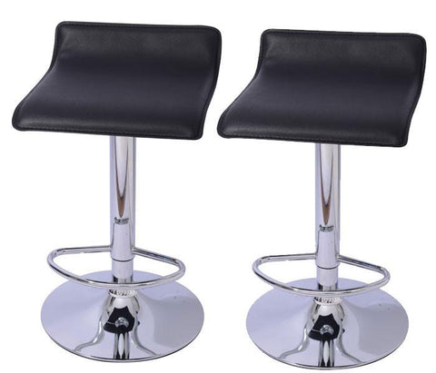 Mochi Furniture Adjustable Lanham Gas Lift Swivel Stool - Black (Set of 2) - BarstoolDirect.com