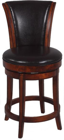 "Chintaly 0239-CS 26"" Swivel Solid Birch Counter Stool - BarstoolDirect.com"