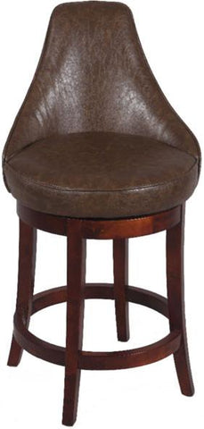 "Chintaly 0290-CS 26"" Swivel Solid Birch Counter Stool - BarstoolDirect.com"