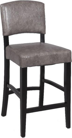 "Chintaly 0297-BS 30"" Stationary Solid Birch Bar Stool - BarstoolDirect.com"
