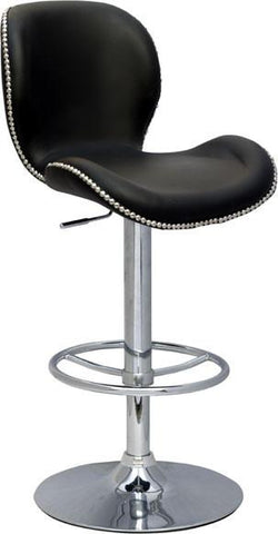 "Chintaly 0315-AS Pneumatic Gas Lift Height Swivel Stool - 23.62"" - 32.28"" - BarstoolDirect.com"