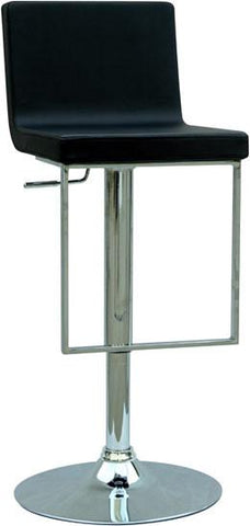 "Chintaly 0351-AS-BLK Pneumatic Gas Lift Adjustable Height Swivel Stool - 24"" - 33"" - BarstoolDirect.com"