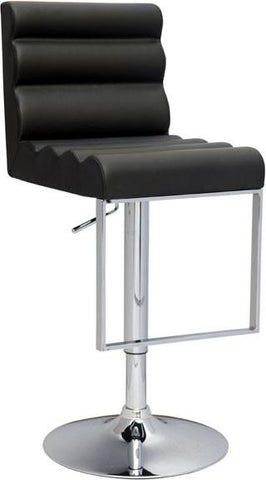 Chintaly 0357-AS-BLK Pneumatic Gas Lift Swivel Height Stool - BarstoolDirect.com