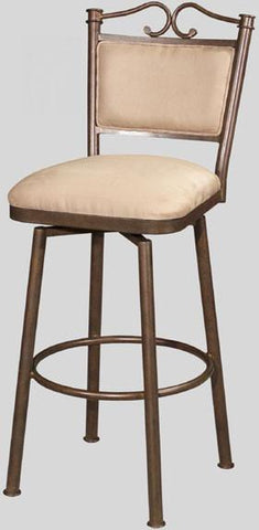 "Chintaly 0707-CS 26"" Memory Return Swivel Counter Stool - BarstoolDirect.com"