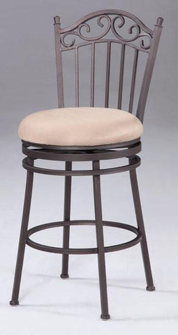 "Chintaly 0710-CS 26"" Memory Return Swivel Counter Stool - BarstoolDirect.com"
