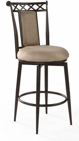 "Chintaly 0724-CS-AUT 26"" Memory Return Swivel Counter Stool - BarstoolDirect.com"