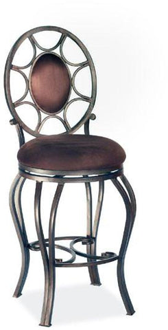 "Chintaly 0727-CS-AUT 26"" Memory Return Swivel Counter Stool - BarstoolDirect.com"