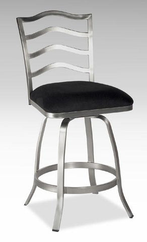 "Chintaly 0734-CS 26"" Memory Return Swivel Counter Stool - BarstoolDirect.com"