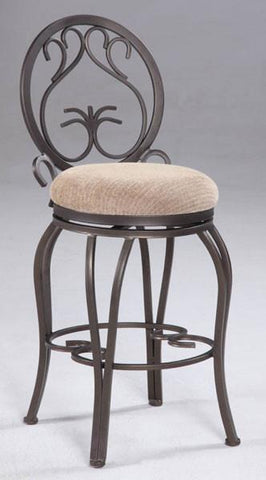 "Chintaly 0745-CS 26"" Memory Return Swivel Counter Stool - BarstoolDirect.com"