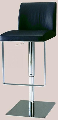 "Chintaly 0813-AS-BLK Pneumatic Gas Lift Adjustable Height Swivel Stool - 24"" - 33"" - BarstoolDirect.com"