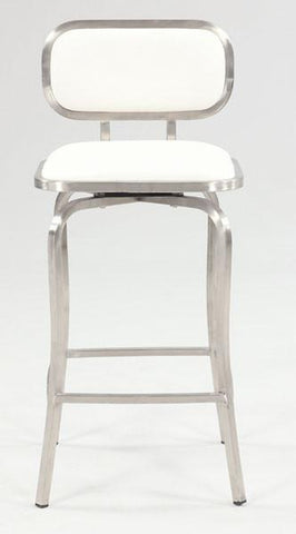 Chintaly 1192-CS-WHT Modern Swivel Counter Stool - BarstoolDirect.com