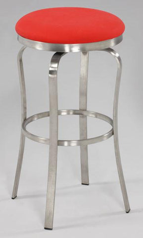 Chintaly 1193-BS-RED Modern Backless Bar Stool - BarstoolDirect.com