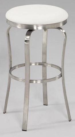 Chintaly 1193-BS-WHT Modern Backless Bar Stool - BarstoolDirect.com