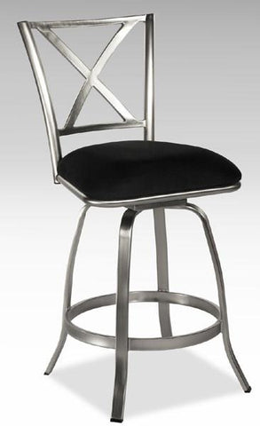 Chintaly AUDREY-BS X Back Swivel Bar Stool - BarstoolDirect.com