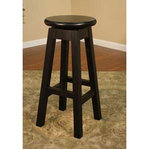 American Heritage Swivel Taylor Counter Stool 24H (124750BLK) - BarstoolDirect.com - 1
