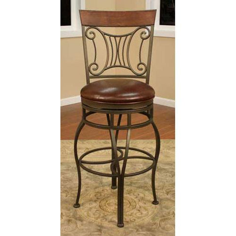 American Heritage Swivel Helena Counter Stool 26H (126776MB-L20) - BarstoolDirect.com - 1