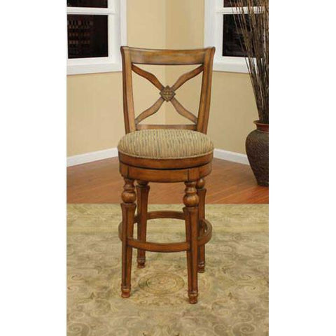 American Heritage Swivel Livingston Counter Stool 24H (124787SN-C44) - BarstoolDirect.com - 1