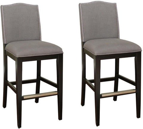 American Heritage Billiards 126893BLK-SMK Transitional Counter Stool - Set of 2 - BarstoolDirect.com