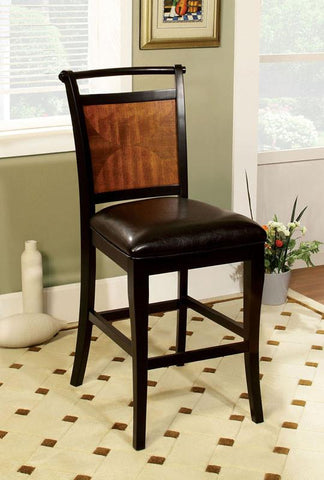 Furniture of America IDF-3034PC Acacia Black Leatherette Seat Counter Height Chair (set of 2) - BarstoolDirect.com