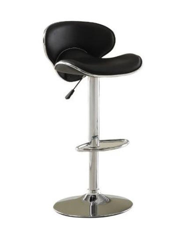 Furniture of America IDF-BR6907BK Black Leatherette Adjustable Bar Stool - BarstoolDirect.com