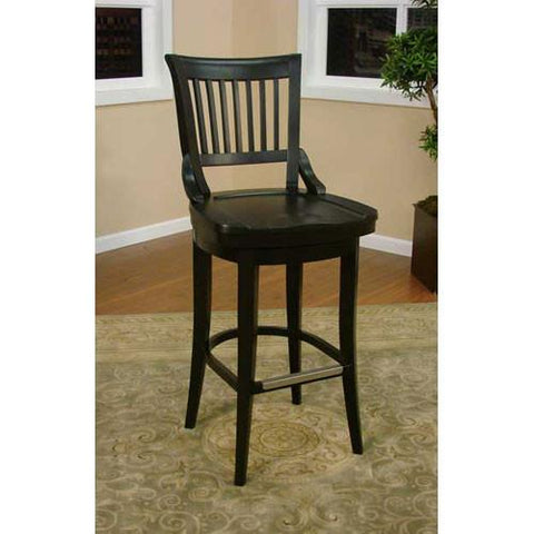 American Heritage Swivel Liberty Bar Stool 30H (130755BLK) - BarstoolDirect.com - 1