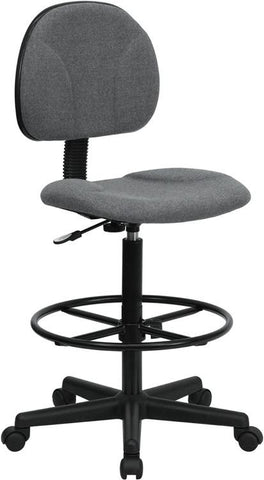 Gray Fabric Multi-Functional Ergonomic Drafting Stool (Adjustable Range 26''-30.5''H or 22.5''-27''H) BT-659-GRY-GG by Flash Furniture - Peazz.com