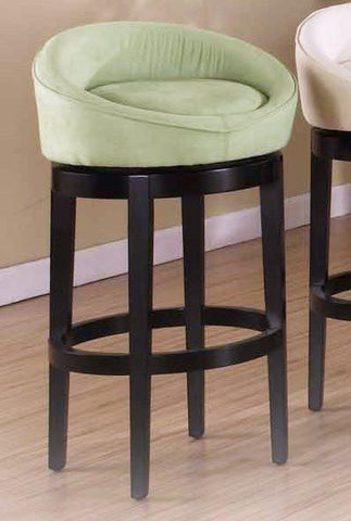 "Armen Living Igloo Green Micro Fiber 26"" Swivel Barstool With Eboney Finished Legs (LCIGBAMFGR26) - BarstoolDirect.com - 1"