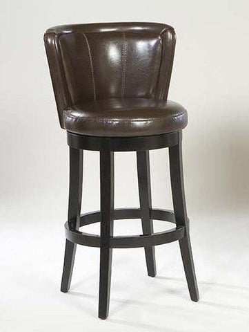 "Armen Living Mbs-11 Lisbon 30"" Swivel Barstool - Brown Leather (LCMBS11SWBABR30) - BarstoolDirect.com - 1"