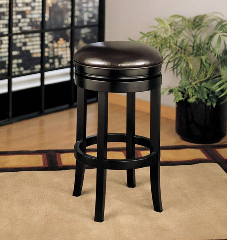 "Armen Living 404 30"" Backless Swivel Barstool - Brown (LCMBS404BAES30) - BarstoolDirect.com - 1"