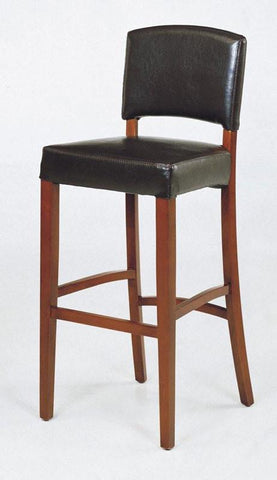 "Armen Living Sonora 30"" Stationary Black  Leather Barstool LCSNBABLBL30 - BarstoolDirect.com - 1"