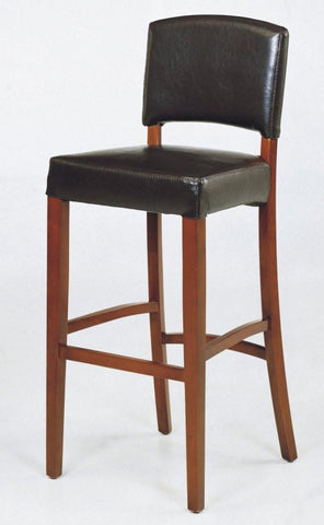 "Armen Living Sonora 30"" Stationary Brown Leather Barstool LCSNBACHBR30 - BarstoolDirect.com - 1"