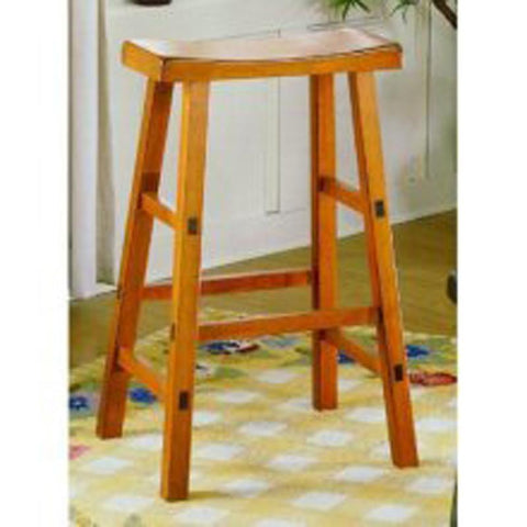 Homelegance 5302A-18 18H Stool,Rta, Oak Finish - BarstoolDirect.com