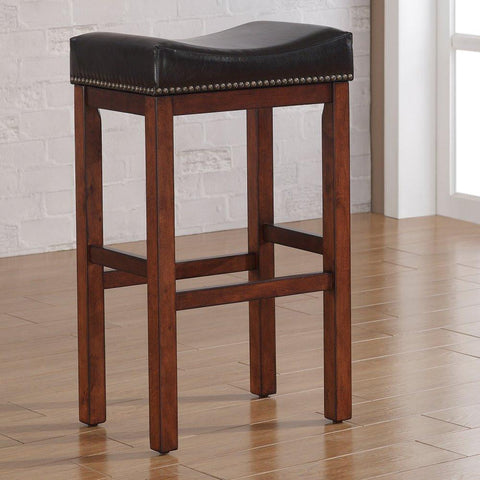 American Woodcrafters B2-203-26L Jackson Saddle Seat Counter Stool - BarstoolDirect.com
