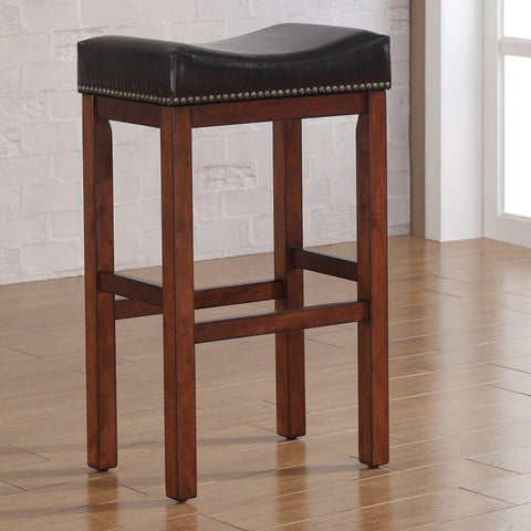 American Woodcrafters B2-203-30L Jackson Saddle Seat Bar Stool - BarstoolDirect.com