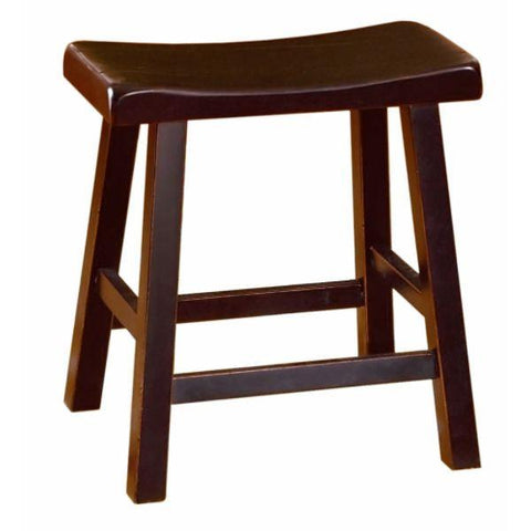 Homelegance Saddleback 18H Stool in Cherry 5302C-18 - BarstoolDirect.com - 2